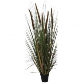 BULRUSH large faux indoor bulrush grass plant