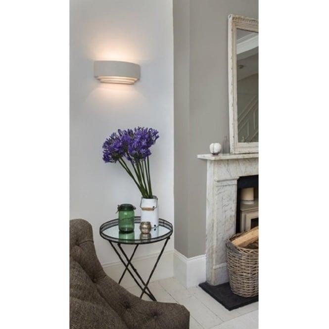 6b85c48c6848 AMALFI double insulated paintable white ceramic wall light