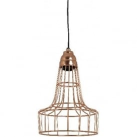 BABETTE metal wire cage ceiling pendant light