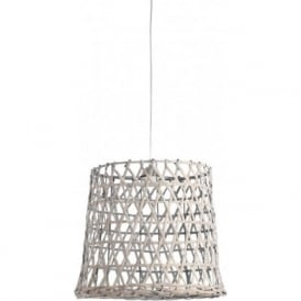 BAMBOO grey woven mesh ceiling pendant light