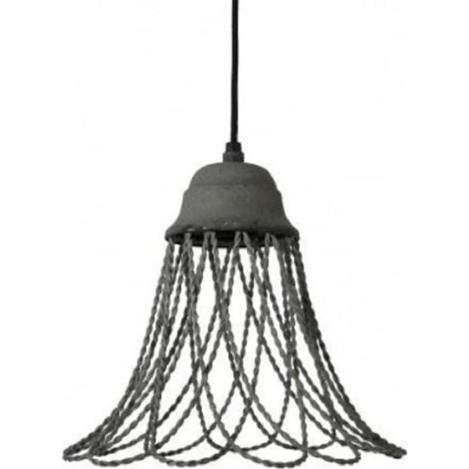 Antique, Guest Designer & Limited Edition Lights BEVERLY open wire frame ceiling pendant light - grey cement finish