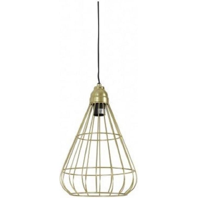 Urban design ceiling pendant light with open gold wire cage shade bindi open gold wire frame ceiling pendant light aloadofball Choice Image