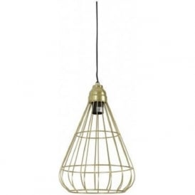BINDI open gold wire frame ceiling pendant light