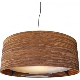 DRUM recycled scraplight ceiling pendant light (large)