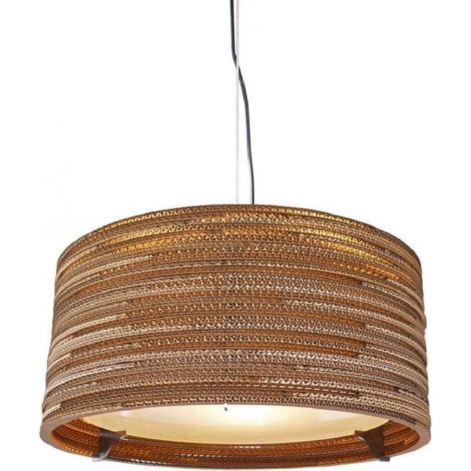 Antique, Guest Designer & Limited Edition Lights DRUM recycled scraplight ceiling pendant light (medium)