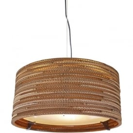 DRUM recycled scraplight ceiling pendant light (medium)