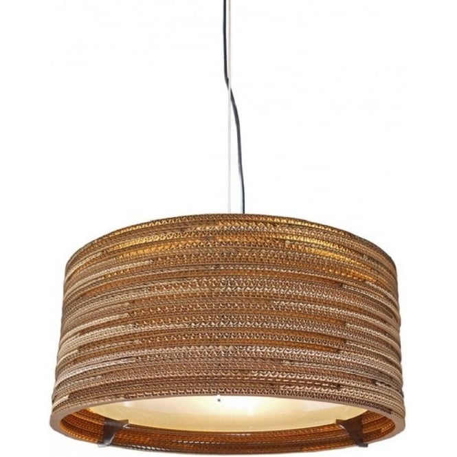 Antique, Guest Designer & Limited Edition Lights DRUM recycled scraplight ceiling pendant light (small)