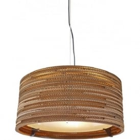 DRUM recycled scraplight ceiling pendant light (small)