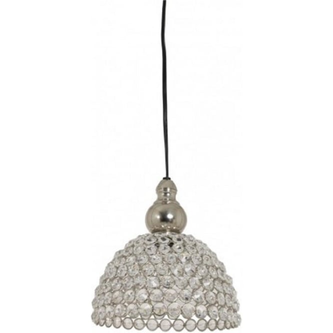 Small Hanging Ceiling Pendant Light In Silver Nickel With