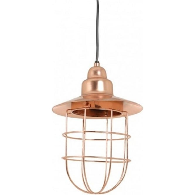 Antique, Guest Designer & Limited Edition Lights FENNE industrial factory ceiling pendant light in rose gold finish