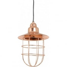 FENNE industrial factory ceiling pendant light in rose gold finish