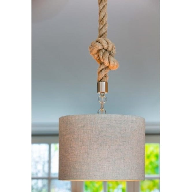 Twisted Rope Ceiling Pendant Suspension Kit in Vintage Styling