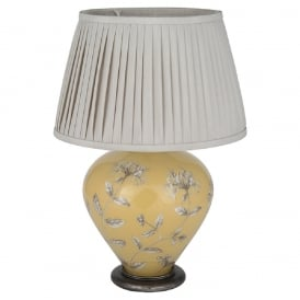 JENNY WORRALL HONEYSUCKLE ginger jar glass table lamp complete with taupe shade