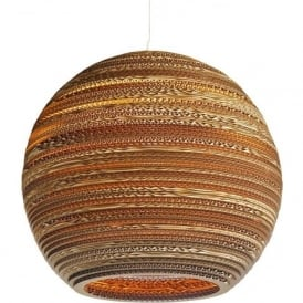 MOON recycled scraplight ceiling pendant light (large)
