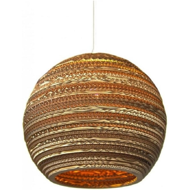 Antique, Guest Designer & Limited Edition Lights MOON recycled scraplight ceiling pendant light (medium)