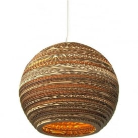 MOON recycled scraplight ceiling pendant light (small)