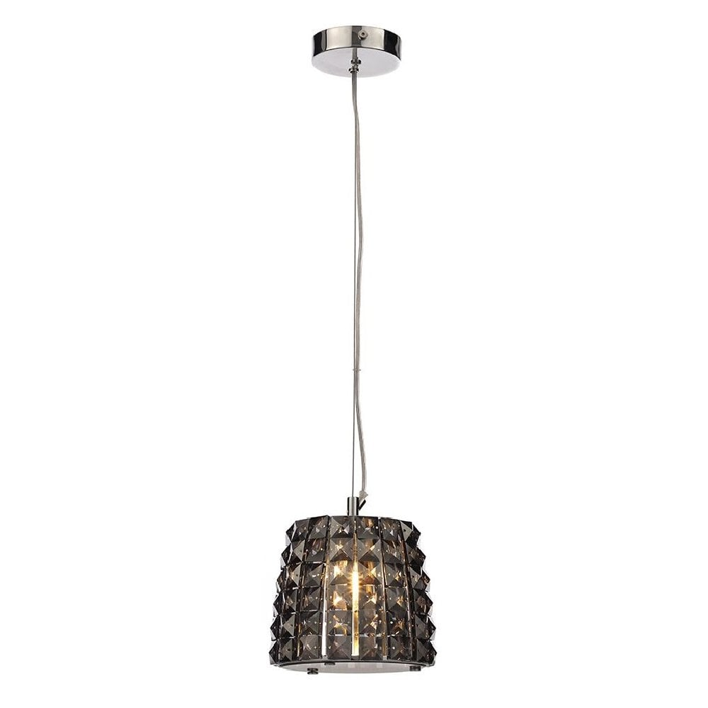 the best attitude ac538 e83c4 MOY small bathroom safe ceiling pendant dressed with luxury smoked crystals