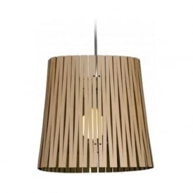 RIPLEY recycled cardboard ceiling pendant light (natural/black)