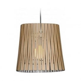 RIPLEY recycled cardboard ceiling pendant light (natural/white)