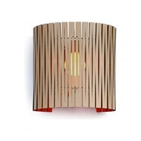 RITA recycled cardboard wall panel light (natural/red)