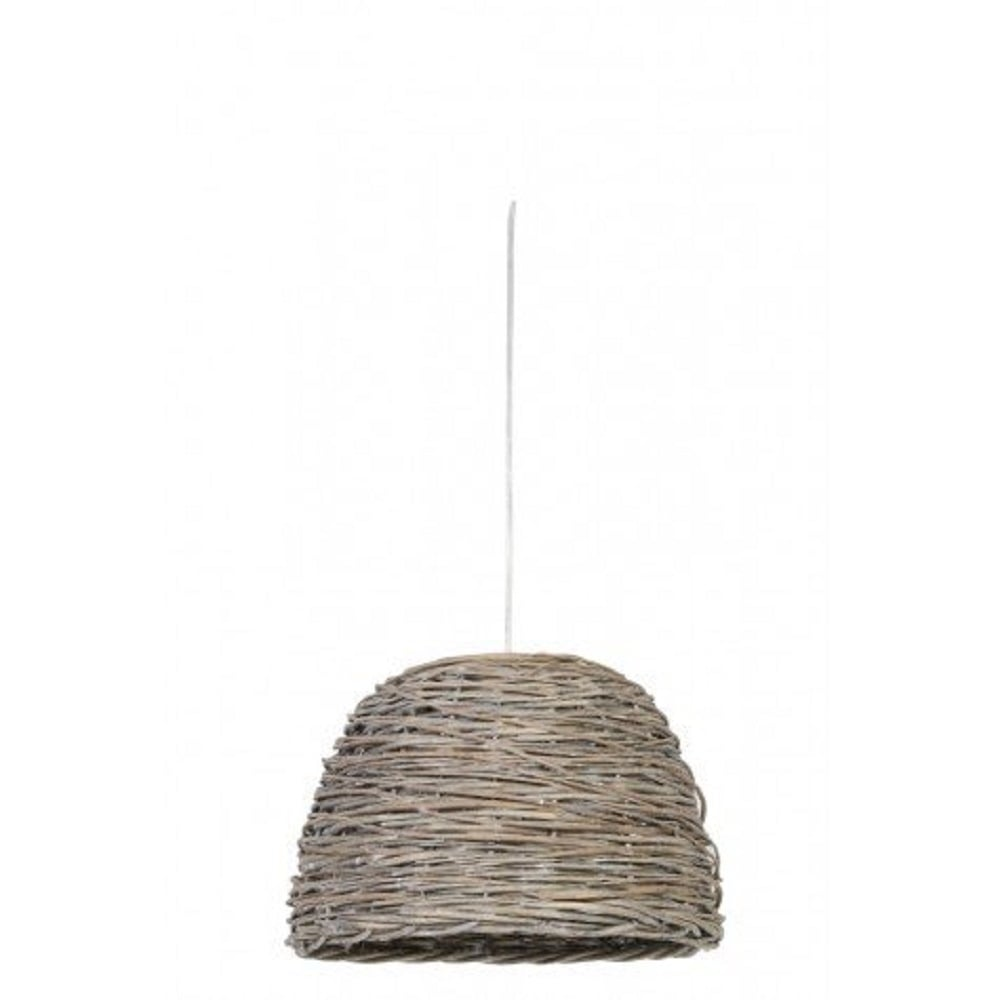 dome shaped wooden basket weave ceiling pendant light