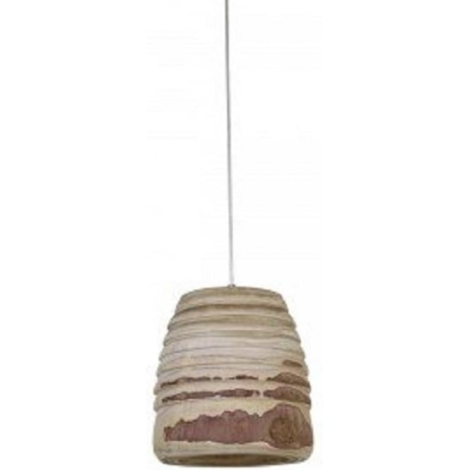 Antique, Guest Designer & Limited Edition Lights SELA rustic textured wooden ceiling pendant light