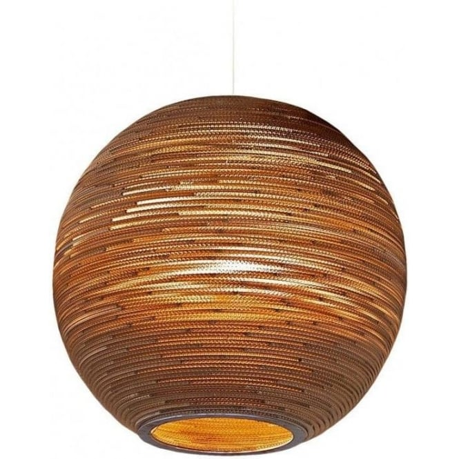 Large circular long drop feature pendant light from recycled cardboard sun recycled scraplight ceiling pendant light large mozeypictures Choice Image