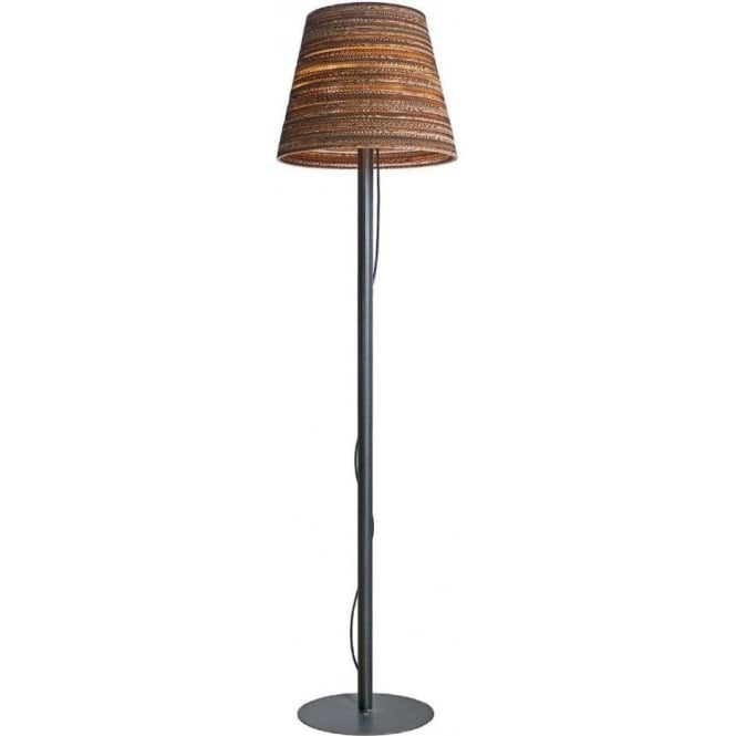 Scraplights Floor Standing Lamp With Recycled Scraplight Tilted Shade