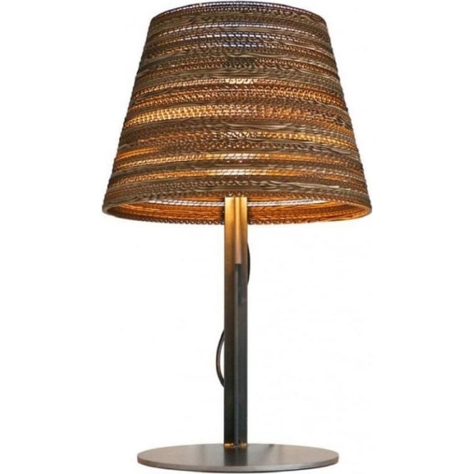 Scraplights Tilted Shade Table Lamp On Steel Base Modern