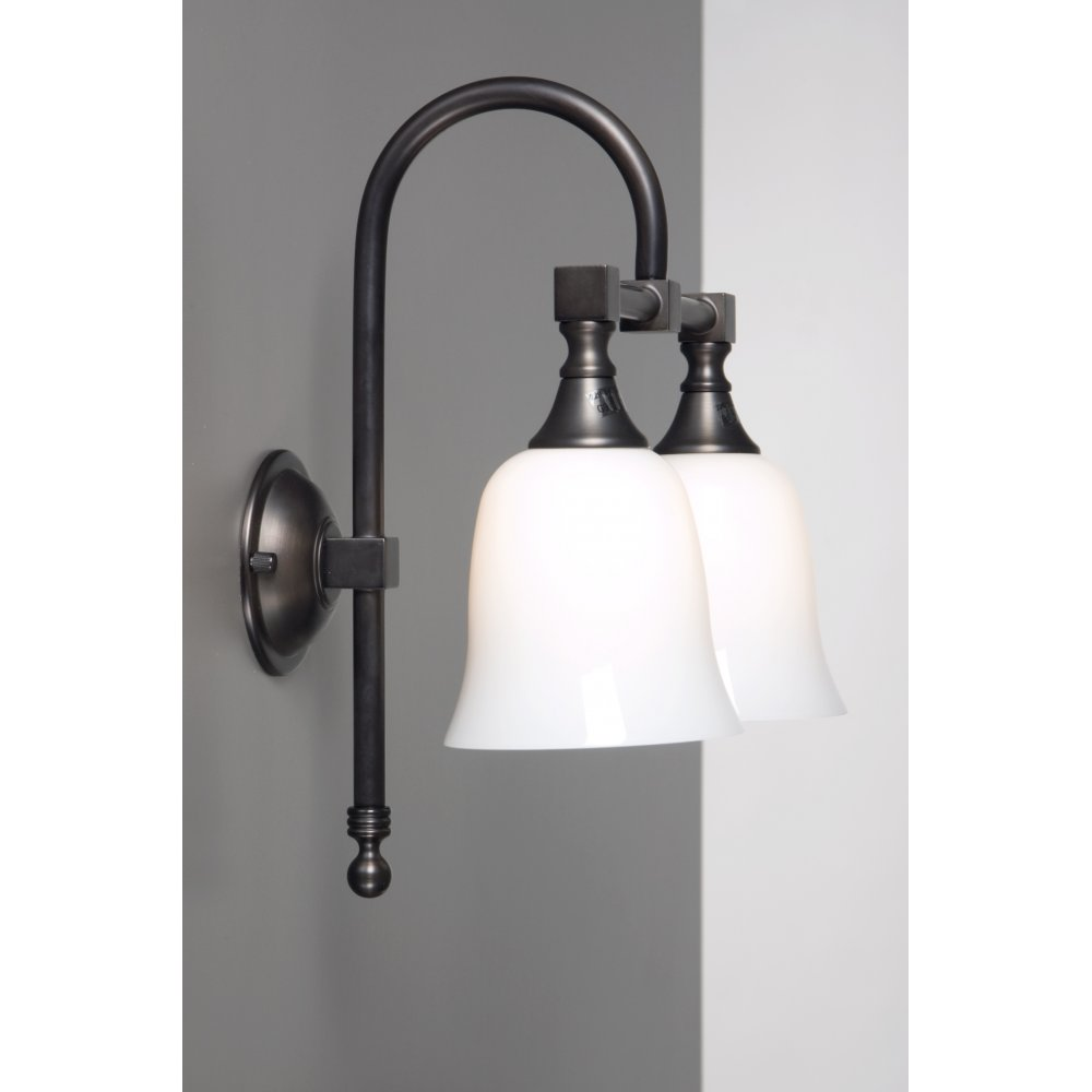 Bath classic traditional double bathroom wall light aged