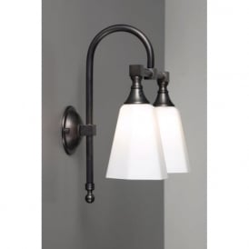 BATH CLASSIC aged brass twin bathroom wall light