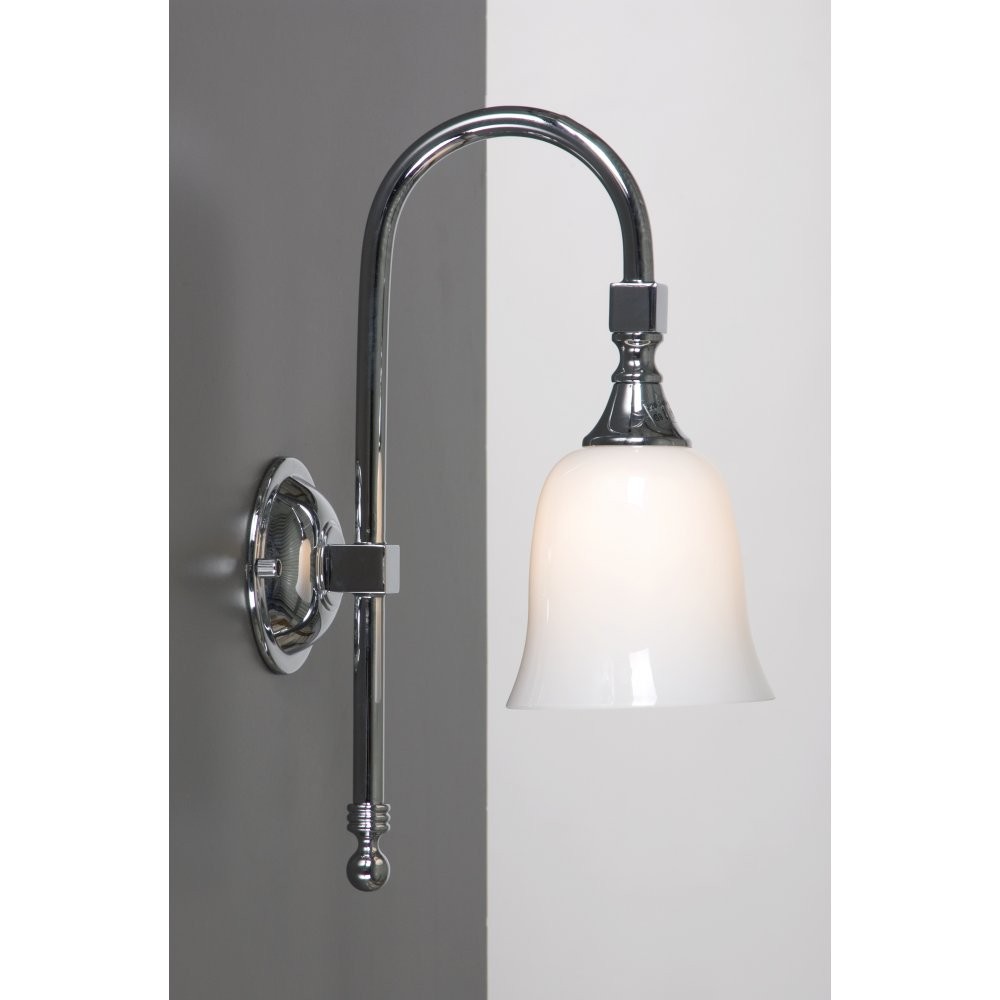 Bath classic ip44 traditional victorian chrome bathroom for Traditional bathroom wall lights
