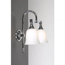 BATH CLASSIC chrome traditional double bathroom wall light