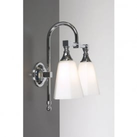 BATH CLASSIC chrome twin bathroom wall light
