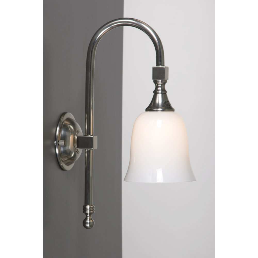 Wall Lights Nickel : BATH CLASSIC Satin Nickel Traditional Victorian Bathroom Wall Light