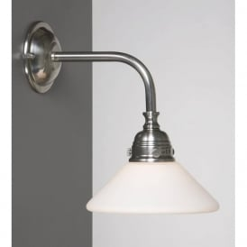 BATH CLASSIC satin nickel traditional bathroom wall light
