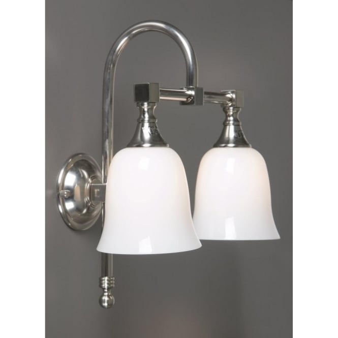 Antwerp Collection BATH CLASSIC satin nickel traditional double bathroom wall light