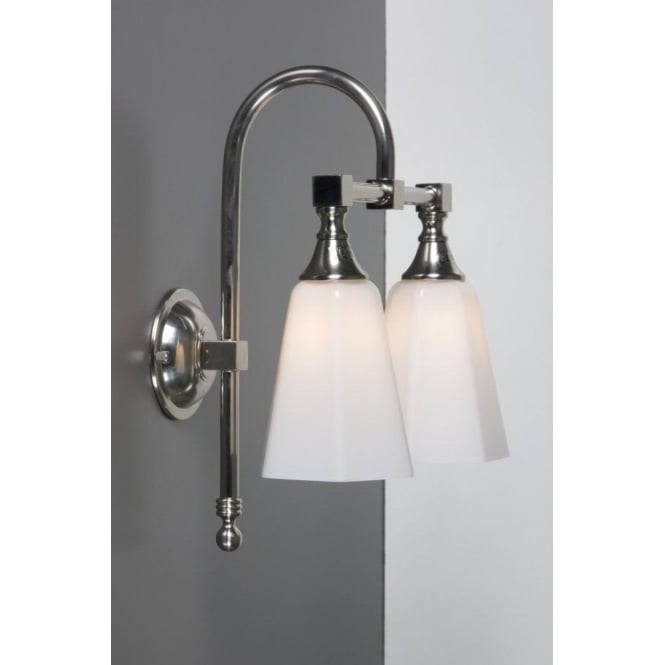 Antwerp Collection BATH CLASSIC satin nickel twin bathroom wall light