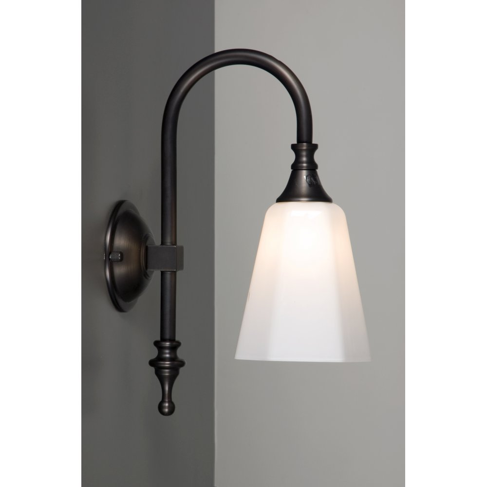 Traditional Bathroom Wall Lamps : Bathroom Wall Light, Aged Brass for Traditional Bathrooms,IP44