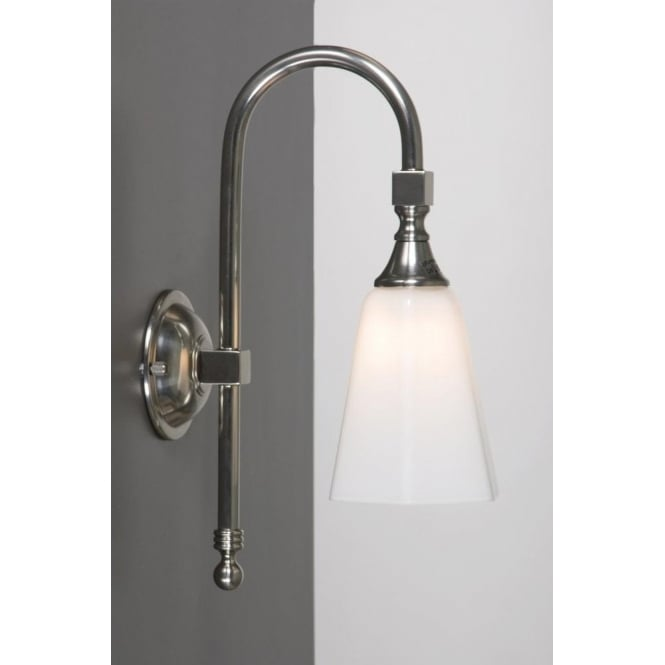 Antwerp Collection BATH CLASSIC traditional IP44 satin nickel bathroom wall light