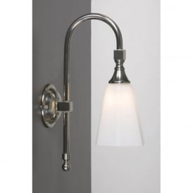 BATH CLASSIC traditional IP44 satin nickel bathroom wall light