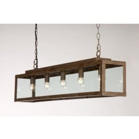 ZENIA rustic long bar suspension ceiling pendant light