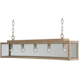 ZENIA rustic suspended bar ceiling pendant light