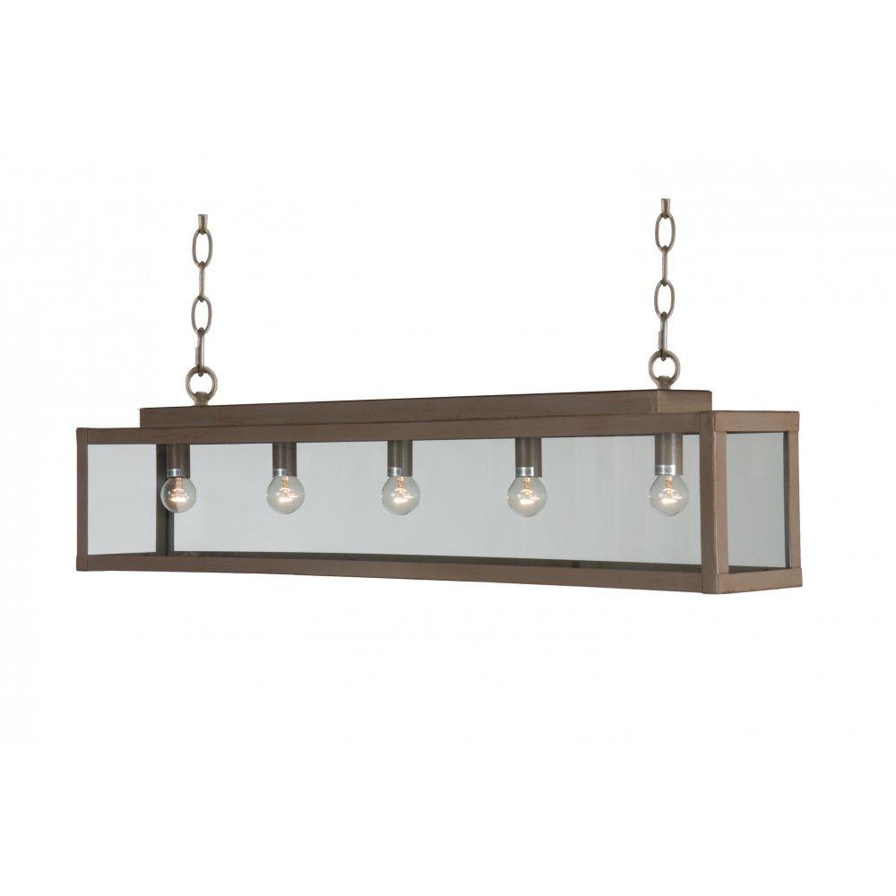 Bar Suspension Ceiling Pendant Light Taupe Painted Metal