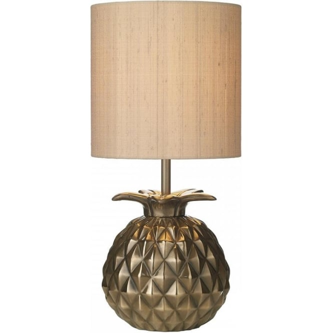 David Hunt Lighting ANANAS bronze pineapple base table lamp with shade