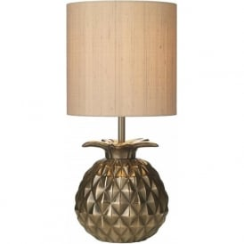 ANANAS bronze pineapple base table lamp with shade
