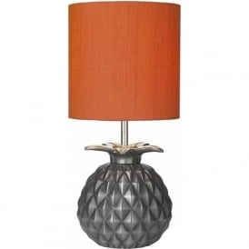 ANANAS steel finish pineapple base table lamp with shade