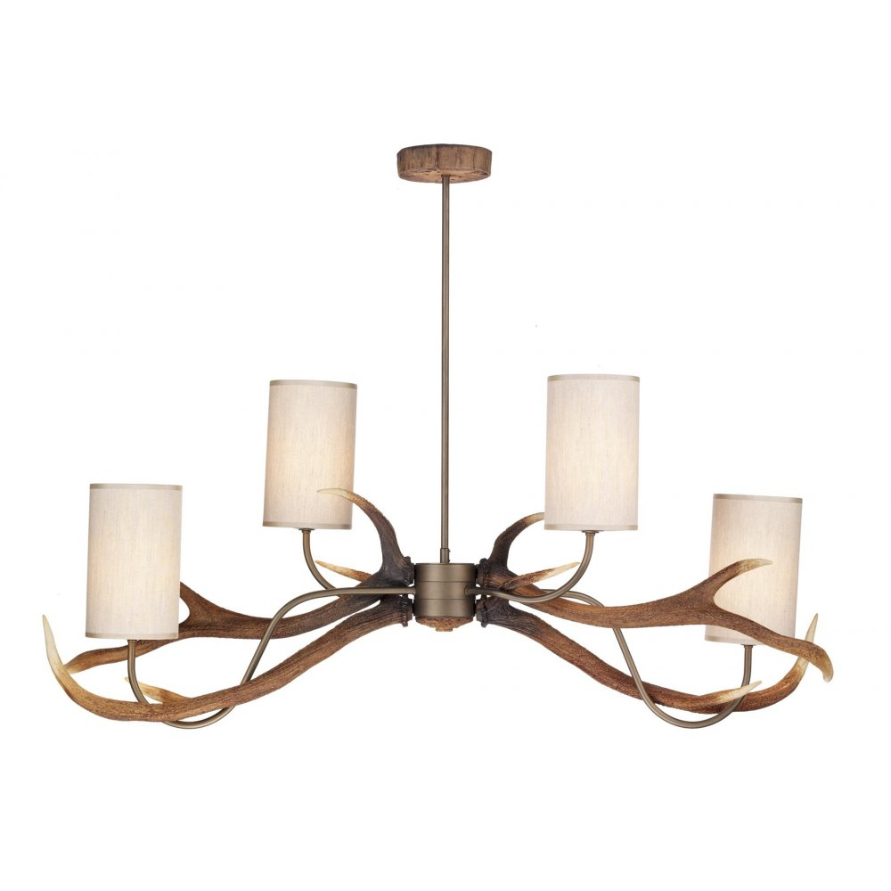 Rustic Lighting Company: Stag Anler Ceiling Light, Longer Length For Over Table