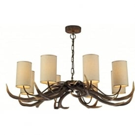 ANTLER large stag antler ceiling pendant light on a chain
