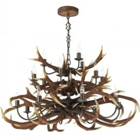 ANTLER large stag horn hanging ceiling pendant light